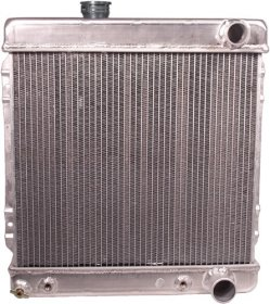 Aluminum Radiator for 1964-66 Mustang 260-289 V8 with Transmission Cooler