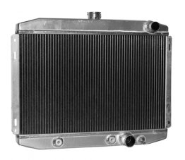 "1967-69 Mustang 24"" High Performance Aluminum Radiator (Small Block) with Transmission Cooler"