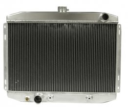"1967-70 Mustang 24"" High Performance Aluminum Radiator with Transmission Cooler - Big Block (also fits 1970 302 & 351 A/C models)"