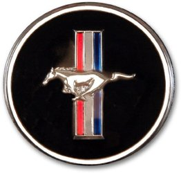 1965-73 Mustang Horn Button and Dash Panel Emblem with Tri-Bar Logo