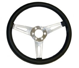 "14"" Black Leather Steering Wheel 6 Hole"