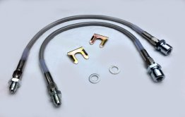 Stainless Braided Brake Hose Kit for 65-66 Mustangs with Kelsey Hayes calipers